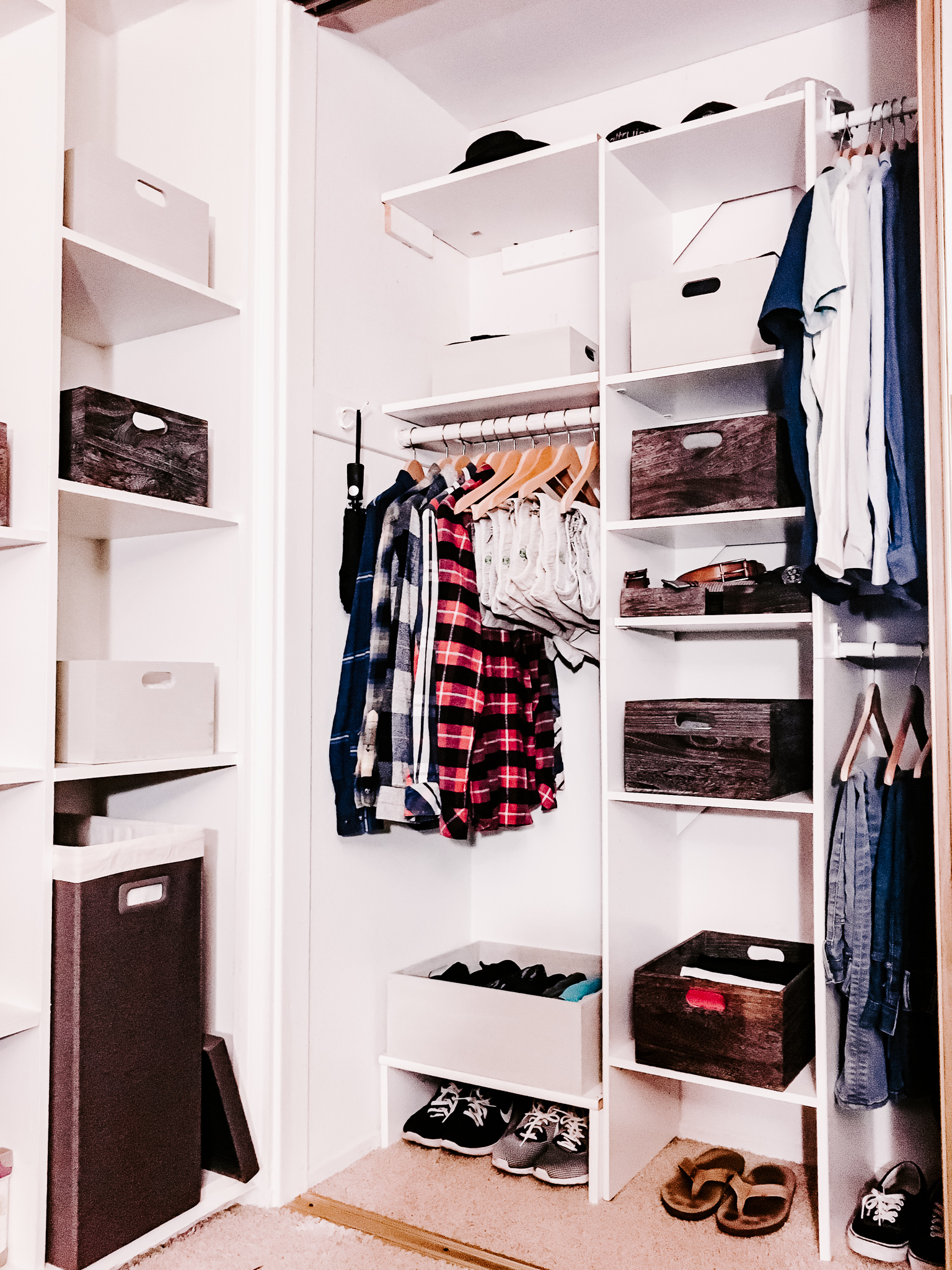an organized closet with space to grow